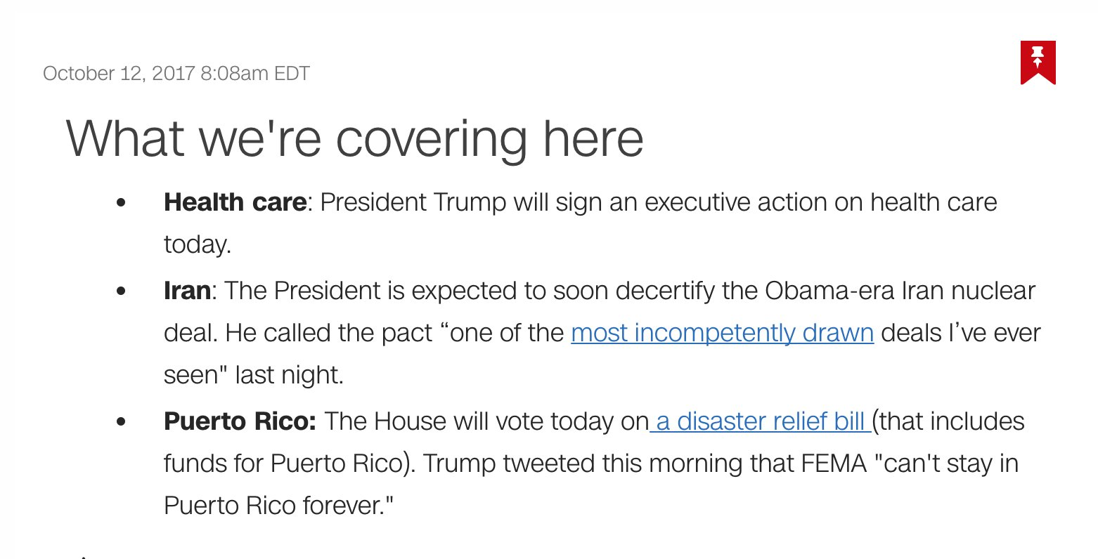 President Trump will sign an executive action on health care today. Follow for live updates: https://t.co/bzmaiNHp4J https://t.co/MyCD7PLf21