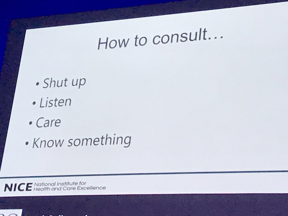 RT @ralanshirley: #RCGPAC David Haslam's Consultation model https://t.co/zp4HuKryRf
