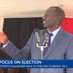 DP Ruto challenges Raila not to quit poll