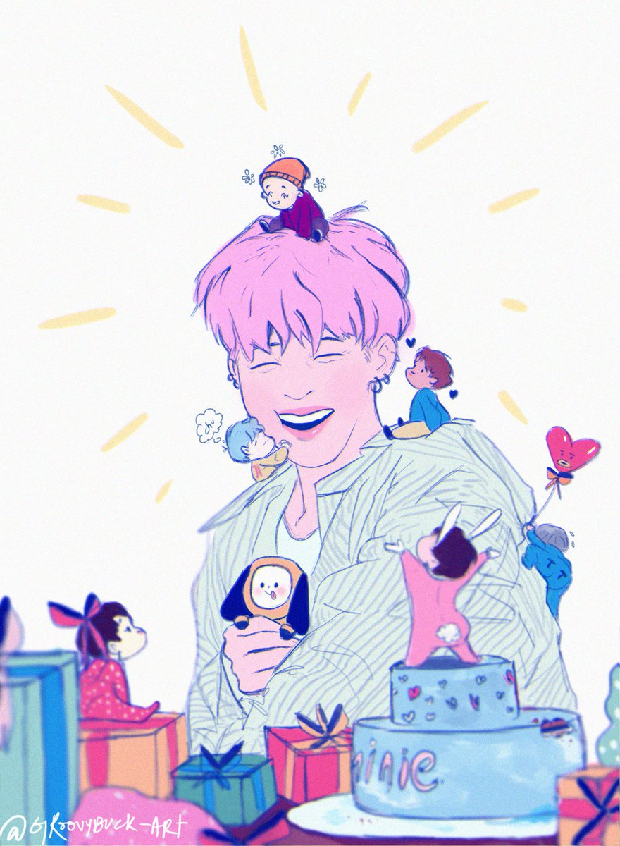 RT @groovybuck_art: everyone's in love with jiminie  [ #HappyJMDay #HappyJiminDay #지민생일ㅊㅋ #btsartmy #방탄소년단 ] https://t.co/lm9rdX67CK