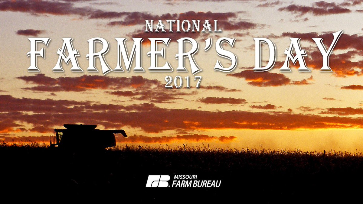 RT @MO_Farm_Bureau: Happy #NationalFarmersDay to farmers across Missouri and the nation who work in acres not hours! https://t.co/3JxpoF2AtG
