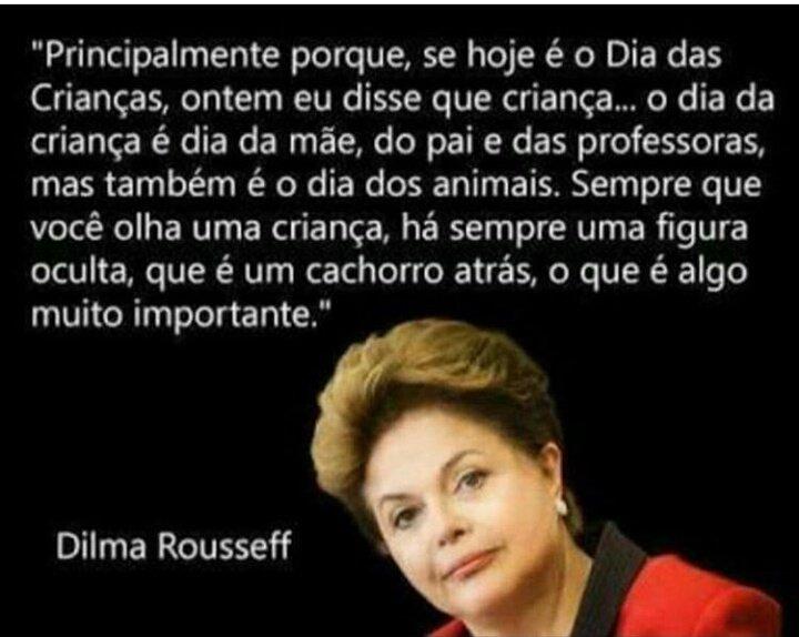 Uma homenagem á todas as crianças nas palavras da Querida Dilma Rousseff  #felizdiadascriancas https://t.co/ECN1Wtbl9L