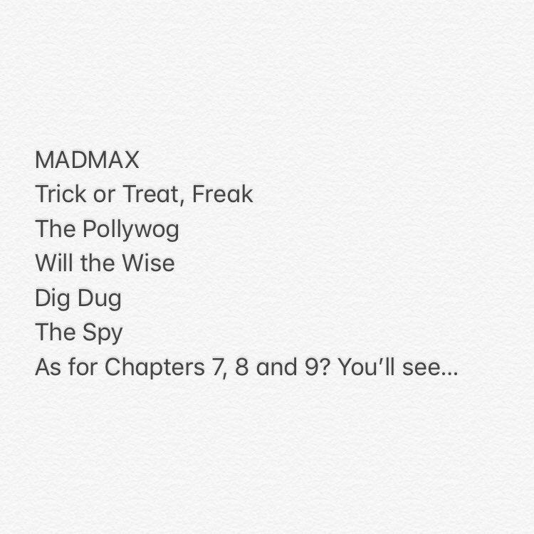 Stranger Things 2 episode names: https://t.co/JZdzl4yZJG