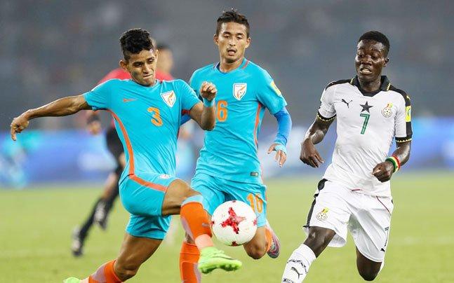 #FIFAU17WC: Ghana thrash India 4-0 to break billion hearts #GHAvIND https://t.co/0uZ3crPSwG https://t.co/BLrSgV8aUd