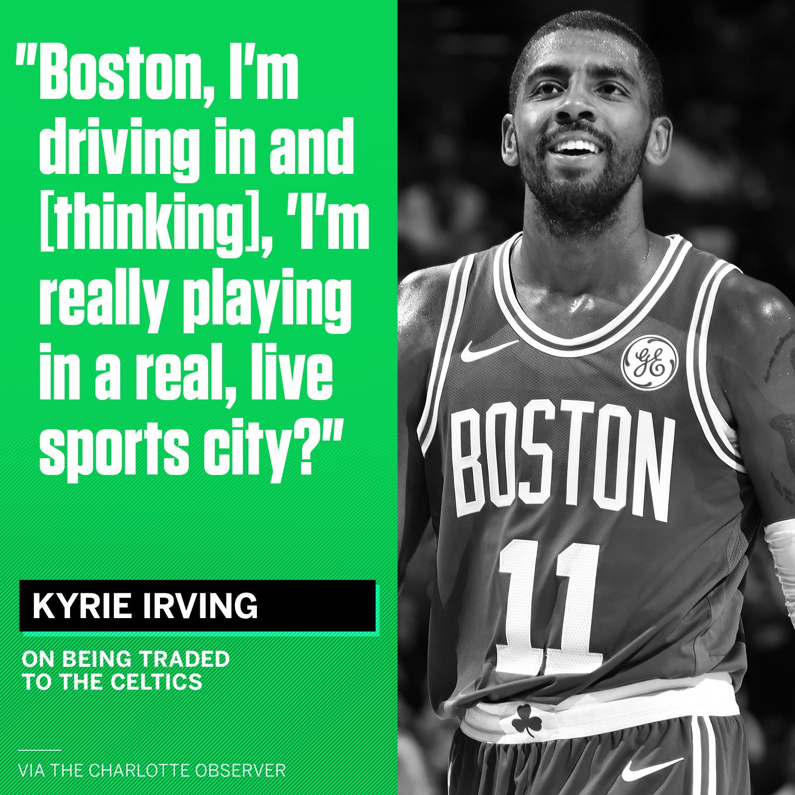 Kyrie says Boston is a little different from Cleveland. https://t.co/mxU4SyXqQN