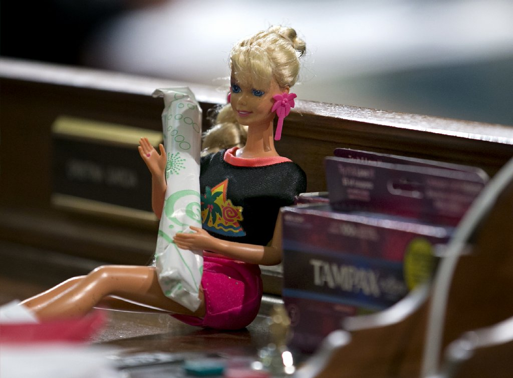 "The assemblywoman campaigning for the bill carried a ""Tampon Barbie"" on the Assembly floor https://t.co/MHdGg6jQSC https://t.co/mUd33hzpk2"