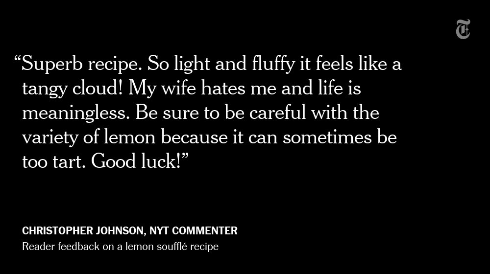 Every now and then ... comments on NYT Cooking takes a wildly unexpected turn https://t.co/7To4Lw7jRT https://t.co/guZ3HrMPFu