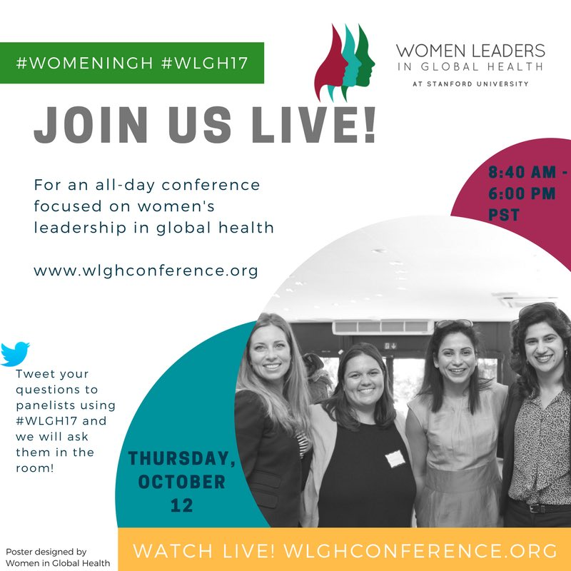 RT @M3hrManzoor: Timely conversations on achieving gender equality in global health leadership. #WomenInGH #WLGH17 https://t.co/hnIhYpypn8