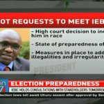 IEBC holds consultations with Stakeholders Tomorrow