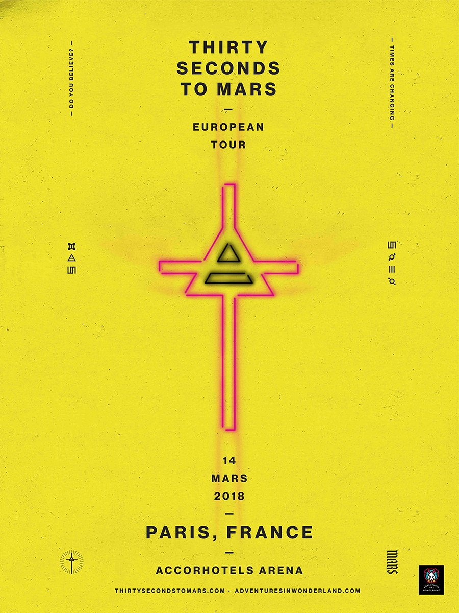 ���� MARS ARRIVE, PARIS ! Rejoignez-nous au @AccorH_Arena mars 14, en vente maintenant : https://t.co/R67rYX5g0l https://t.co/mIUj3x6mw9
