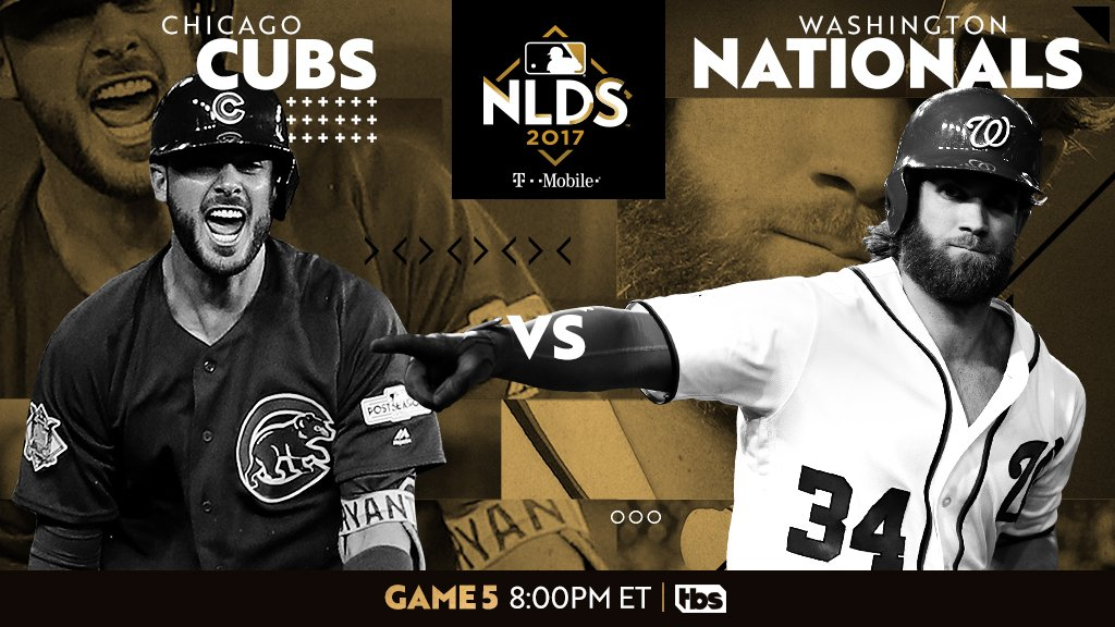 Who will round out the final four?     @Cubs. @Nationals. #NLDS Game 5 on @TBSNetwork. https://t.co/XcA16RSkbm https://t.co/NOIZIOIlJ0