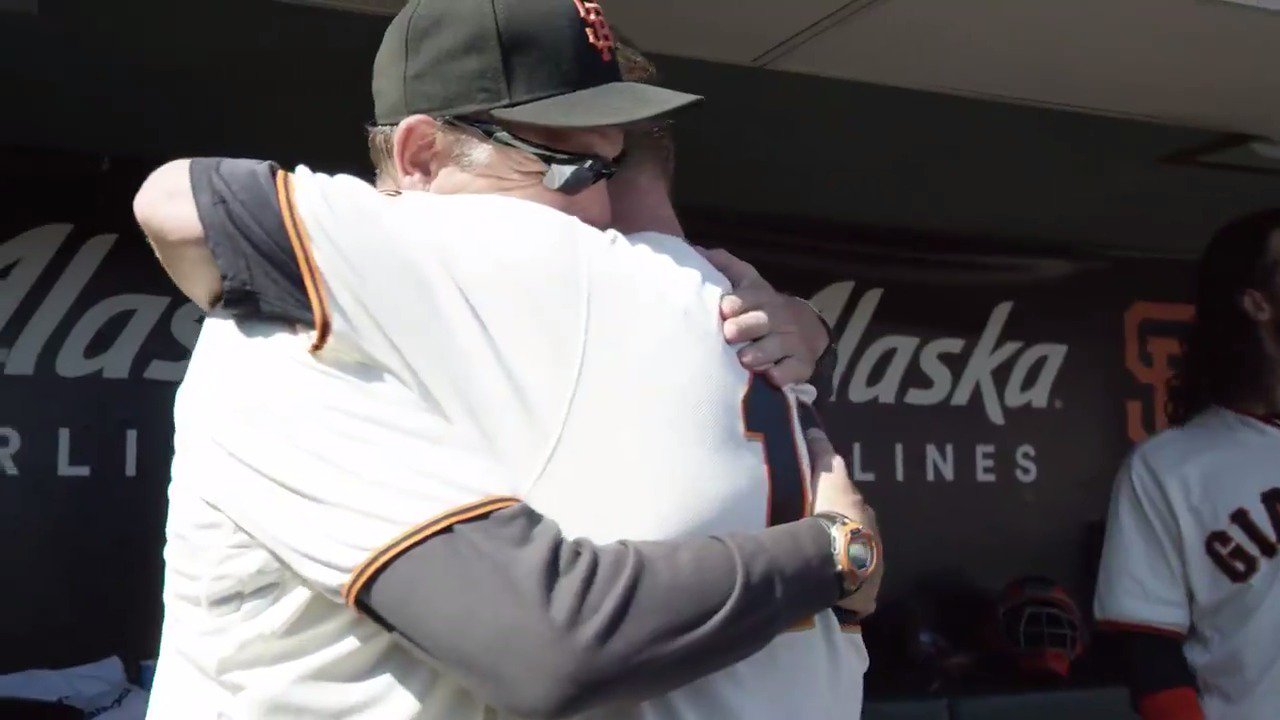 Dave Righetti - the pitching coach that saw every pitch of Matt Cain's @MLB career.   #ThanksCain | #SFGiants https://t.co/mWQ09LqTJo