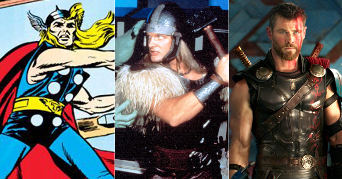 See the style evolution of Marvel's Thor: