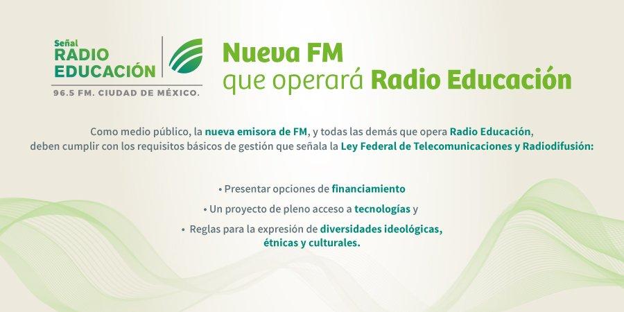 Ya sabes, ¿verdad? Radio Educación operará una frecuencia de FM en la Ciudad de México. https://t.co/Z8CFqJysx9