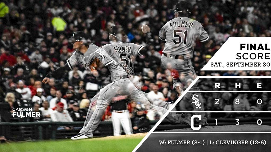 Carson Fulmer's arm, Kevan Smith's bat lead way to a #Sox win in Cleveland.  RECAP: https://t.co/oA4qy6wpc8 https://t.co/SuQGQckHvP