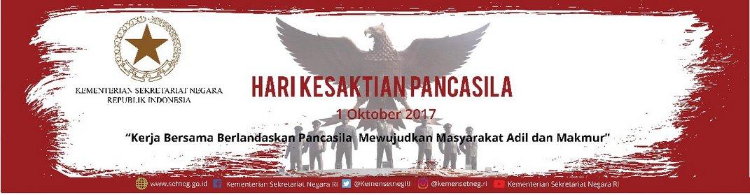 RT @KemensetnegRI: Selamat Hari Kesaktian Pancasila, 1 Oktober 2017 #PancasilaSakti https://t.co/4kCIjOEruO