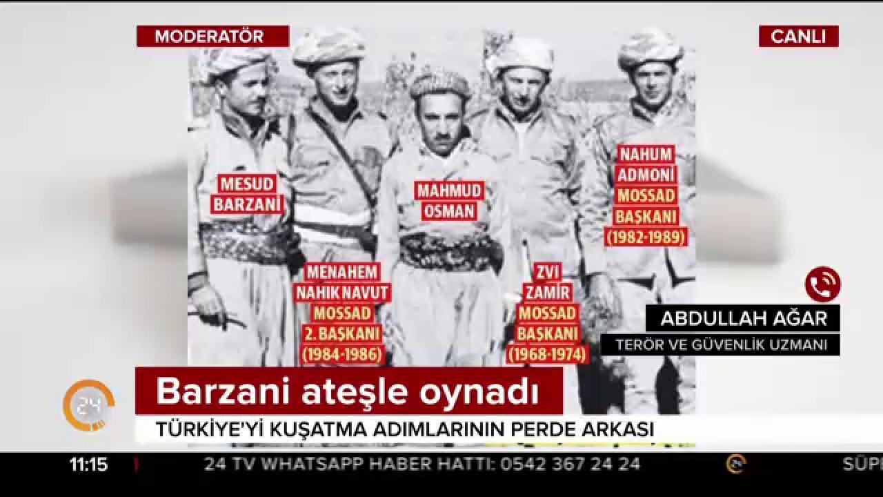 """Barzani-Mossad arasında ilişki mi var? Erdoğan'ın """"MOSSAD ile ilişkileri ortaya çıktı"""" çıkışı ne ifade ediyor? @abdullahagar2 analiz ediyor https://t.co/S25XEhPAvd"""