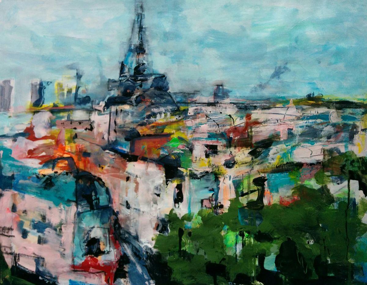 Vu de ma fenêtre, 2016  Philippe Bucher #peinture https://t.co/or68grQGCZ