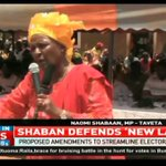 Naomi Shaban defends new election laws