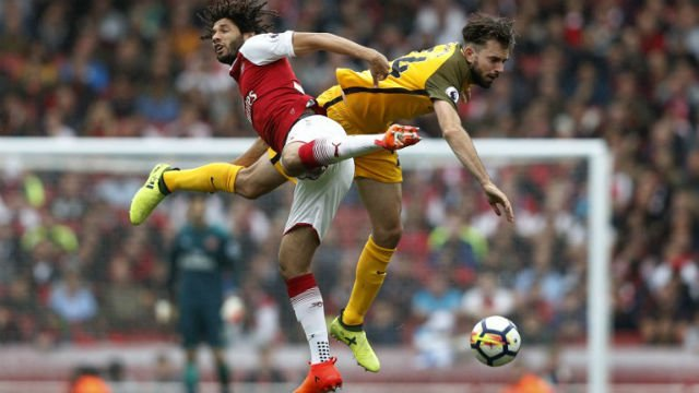 Premier League: Nacho Monreal and Alex Iwobi seal Arsenal's win against Brighton