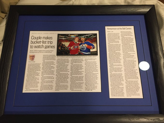 First piece for the hockey cave. Happy birthday my love  Thanks again &
