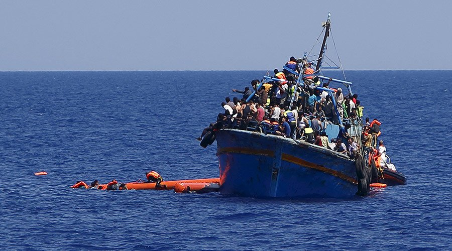 98 migrants bound for Europe were rescued by Tunisian Navy off coast of