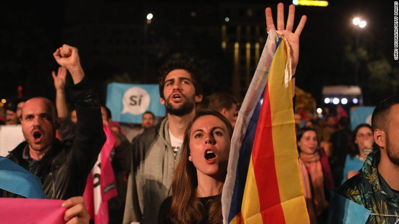Catalans vote to split from Spain amid violent crackdowns at the polls
