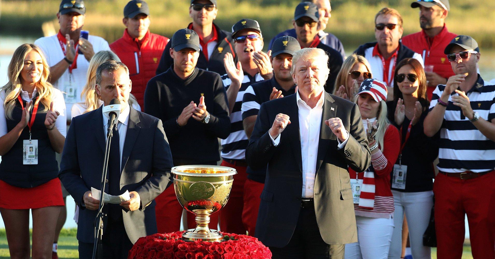 Trump dedicates golf trophy to hurricane victims https://t.co/HO3OOXKreF https://t.co/SQ4fq0FuhO