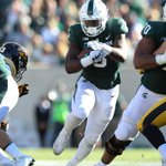 Michigan State running backs struggle to find footing in win over Iowa