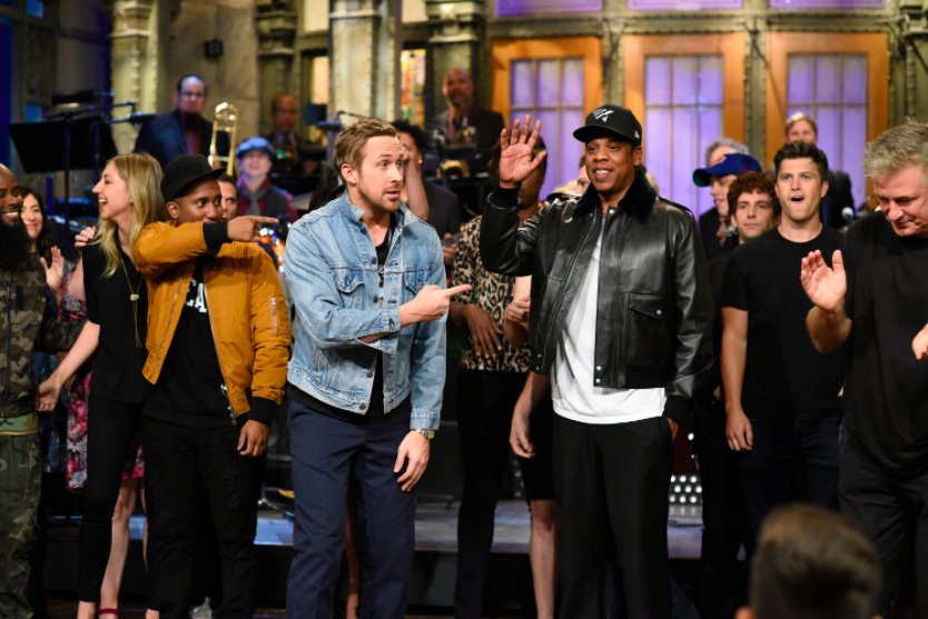 JAY-Z and Damien Marley performed 'BAM' during the #SNLPremiere. Watch: https://t.co/j6xjrRXOwk https://t.co/VmFnBBxngv