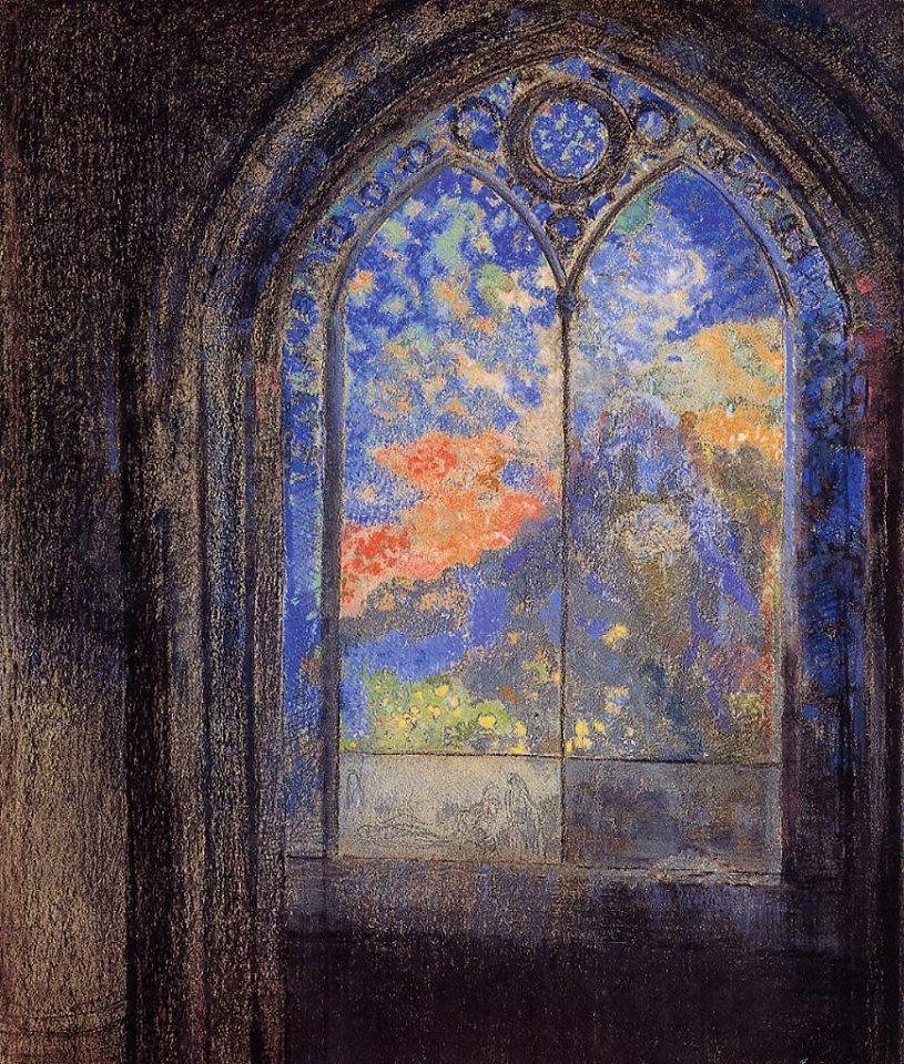 Odilon redon Jardim misterioso, 1905 https://t.co/NHg2Vd0LVH
