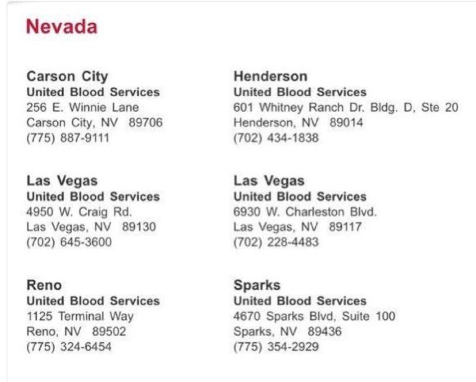 RT @katiecouric: Here are some places you can donate blood to help #LasVegas https://t.co/gHwMyIKBSv