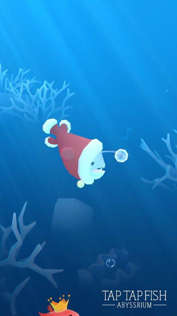 私のクリスマスチョウチンアンコウ:)  #taptapfish Download: https://t.co/xgLD8S9qlX https://t.co/Q1MO73JrXB