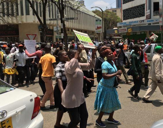 Policeclash with NASA protesters in Kisumu