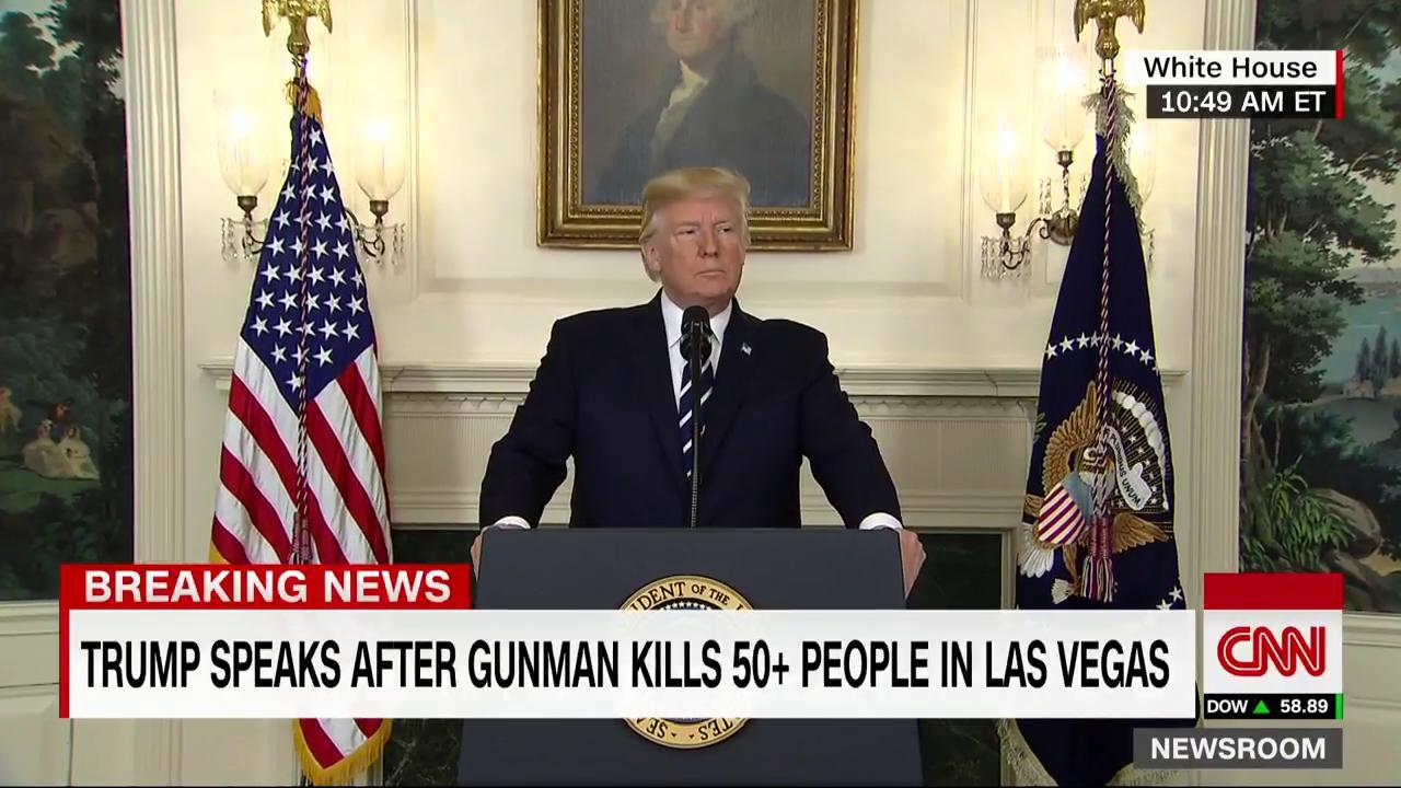HAPPENING NOW: President Trump is speaking about the Las Vegas shooting. Watch live on CNNGo https://t.co/HAhU3MmiMf https://t.co/aELPMcyUIP