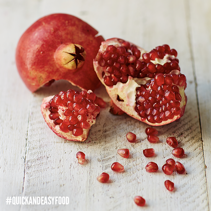 Pomegranate seeds. Also known as 'perfect little ruby red capsules of joy'. #QuickAndEasyFood https://t.co/VhWejKJO4e