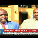 Jubilee takes Raila to court