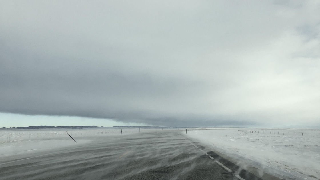 Winter storm hits southern Wyoming