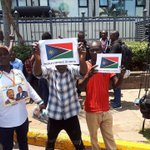 NASA supporters unveil the Flag of the Peoples Republic Of Kenya (PROK) (PHOTOs)