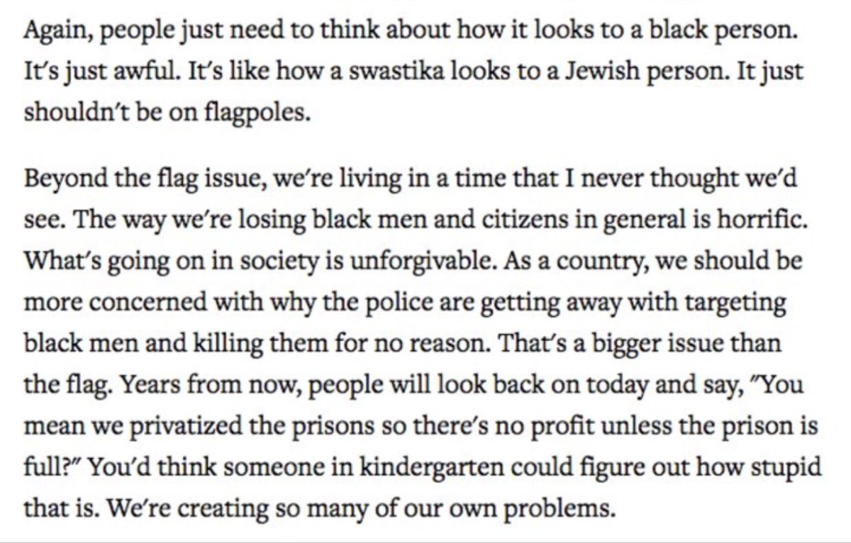 RT @ShaunKing: Tom Petty on the Confederate Flag and Police Brutality in America. https://t.co/qDSQm66kSP