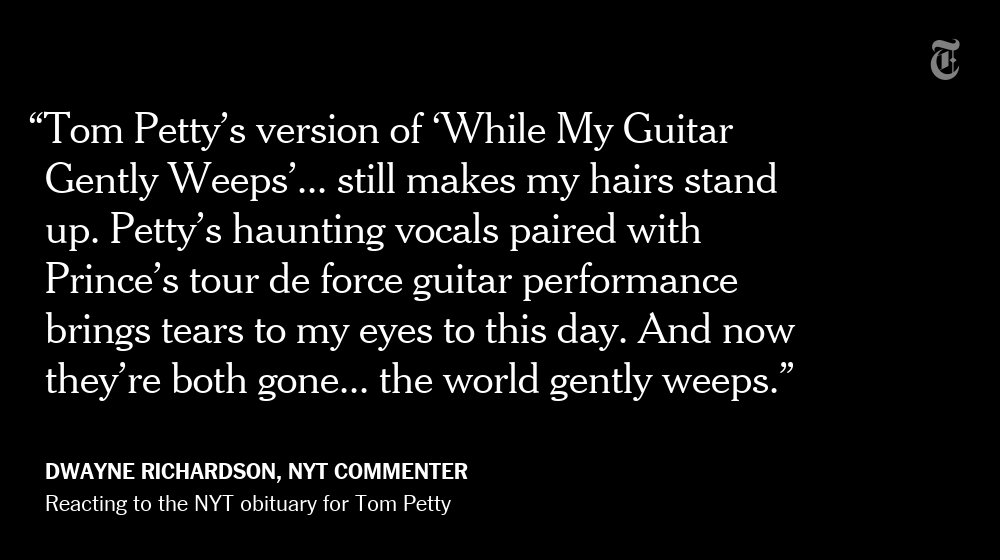 An NYT reader reacts to the death of Tom Petty https://t.co/LeoJhYgu0L https://t.co/G70sf9Birv