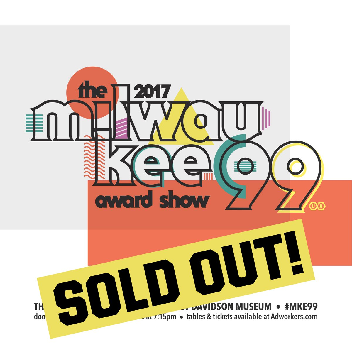 The #MKE99 Awards Show is officially SOLD OUT! Going to be a great night @hdmuseum. See you on October 12. https://t.co/EhIGKZL0U0