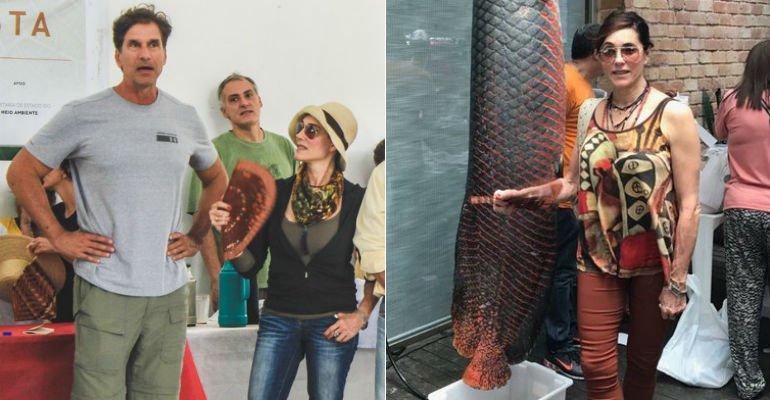 Christiane Torloni. Foto do site da Caras Brasil que mostra Christiane Torloni e Victor Fasano participam de ação do bem na Amazônia