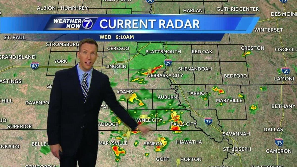 Rain south of Omaha Wednesday, soaking rain through the end of the work week