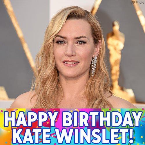 Happy birthday to Titanic star actress Kate Winslet!
