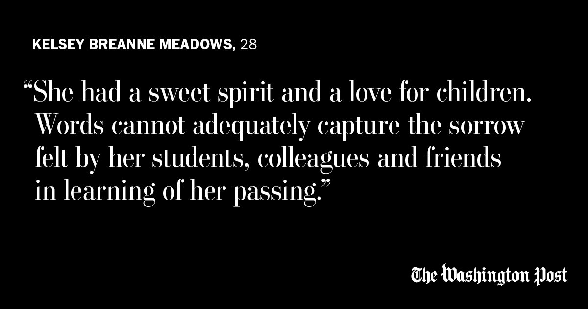Kelsey Breanne Meadows, 28, was a substitute teacher at her former high school.