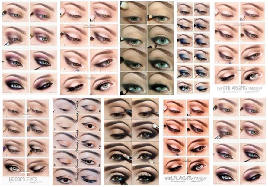 Makeup for hooded eye