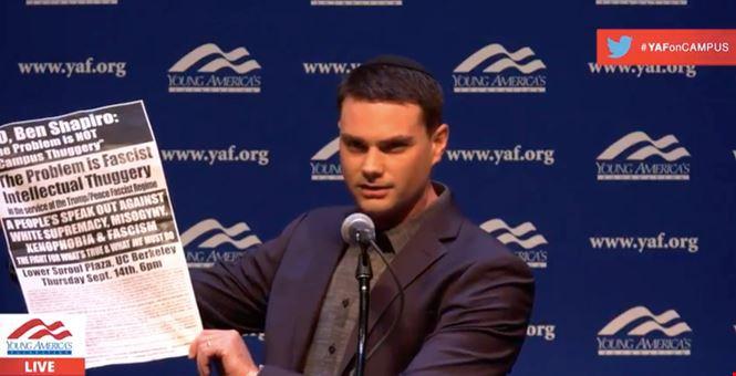 Ben Shapiro given two minutes to defend free speech before California legislature