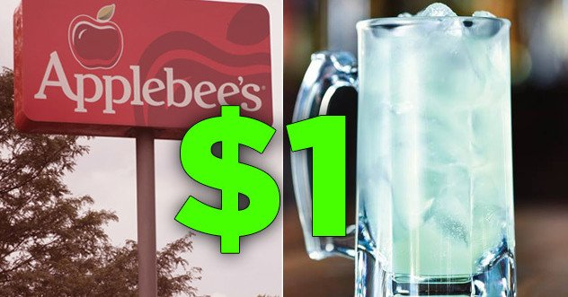 Applebee's is selling $1 margaritas throughout October and damn, I'm already drunk