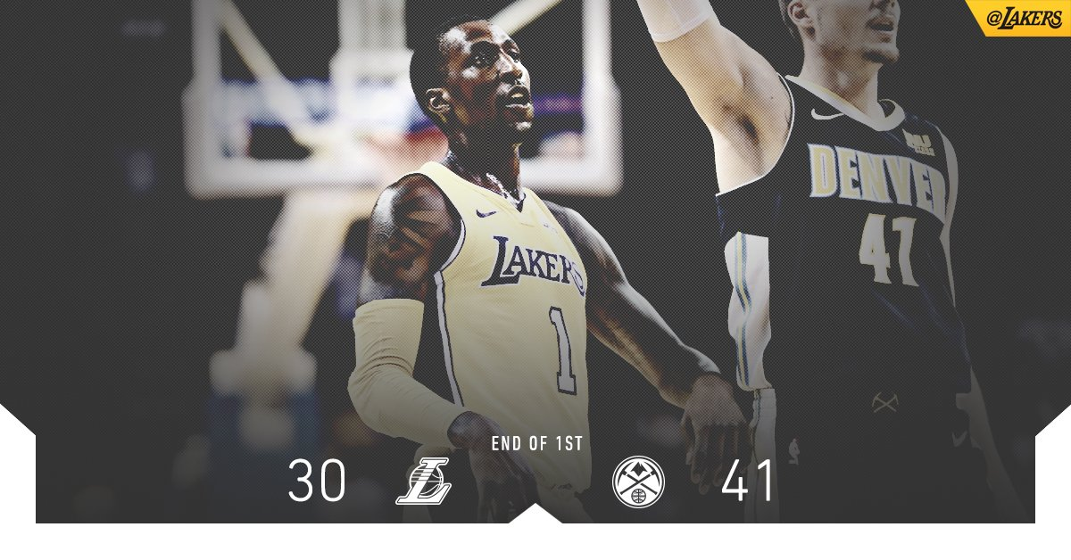 Scoring department led by Kuz (6) & KCP (5) after one quarter. https://t.co/qtN8uzJCCL